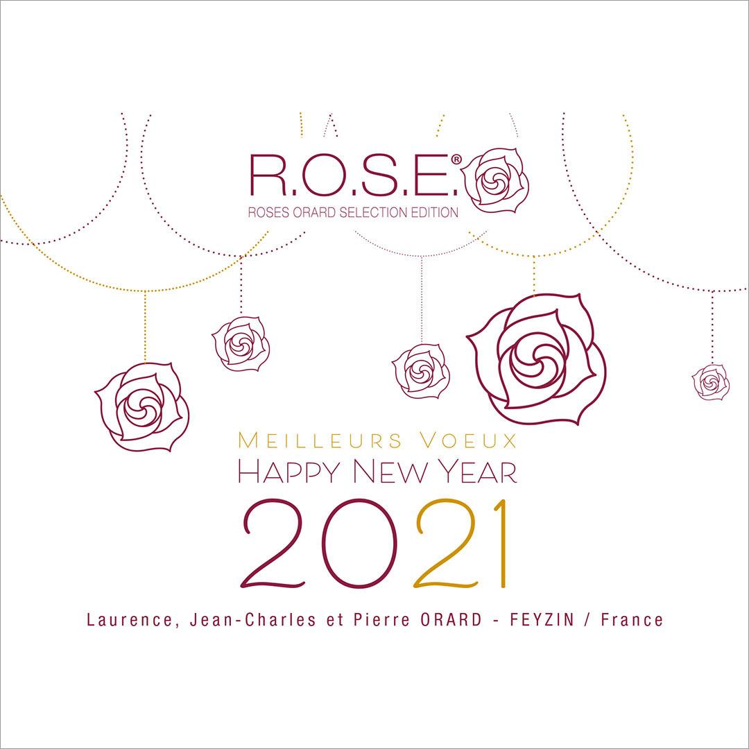 2021, des vœux résolument  tournés vers la passion des roses